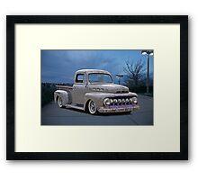 1951 Ford 'Work in Progress' Custom Pickup Framed Print