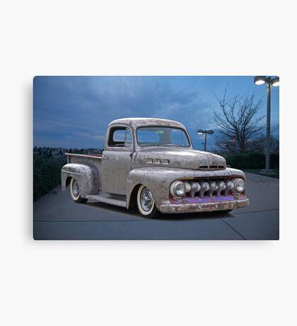 1951 Ford 'Work in Progress' Custom Pickup Canvas Print