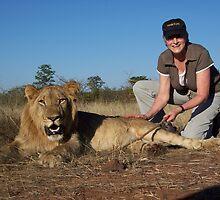 Stroking a Lion by Braedene