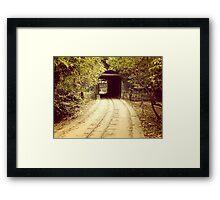 Tunnel & track Framed Print