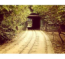 Tunnel & track Photographic Print