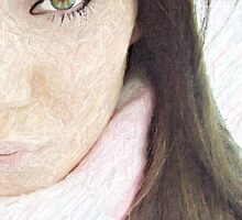 Colored Pencil Effect, except the eye. by Nicolette Jewell