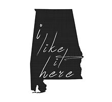 I Like it Here Alabama by surgedesigns