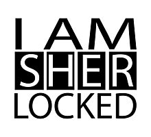 I AM SHERLOCKED Photographic Print
