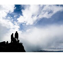 Climbers on a peak Photographic Print