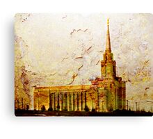 West Jordan LDS Temple Canvas Print