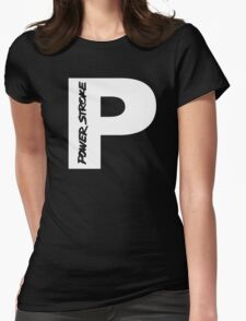 PowerStroke White Womens Fitted T-Shirt