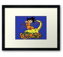 Kid Goku - Dragon  Ball Framed Print