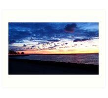 Morning Sunrise Lake Michigan Art Print