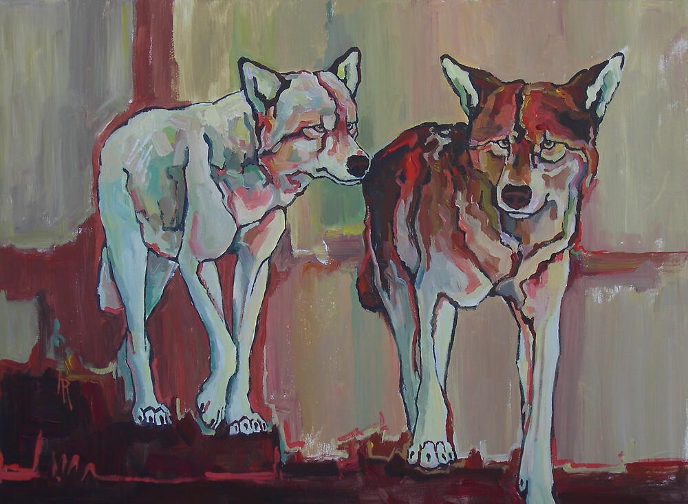 Two by Two - wolves by Angie Rodrigues