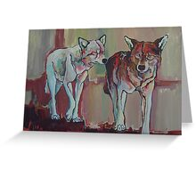 Two by Two - wolves Greeting Card