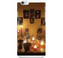 My altar after a Full Moon Esbat ritual iPhone Case/Skin