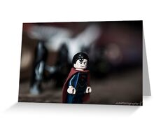 The Man of Plastic Greeting Card