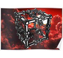 Cubenoid stadia cloud storm - a dedication to Duality's Digitals Poster