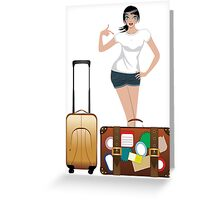 Traveling Girl 2 Greeting Card
