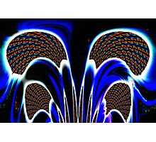 NEON PLAD GOLF CLUBS Photographic Print
