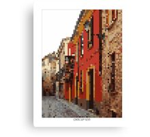 Pixel Art Cities: Piacenza Canvas Print