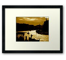 CANAL LIFE IN VENICE Framed Print