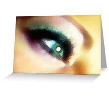Pretty Colored Eye Greeting Card