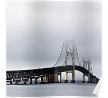 Morning fog on the bridge Poster