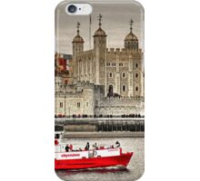 The Little Red Boat and The Tower of London iPhone Case/Skin