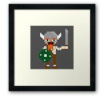 8-bit guys, Viking Framed Print