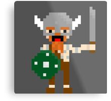 8-bit guys, Viking Metal Print