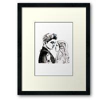 Twilight Bella and Edward Prom Framed Print