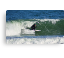 Winter Surfing at the Outer Banks in North Carolina. Canvas Print