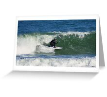 Winter Surfing at the Outer Banks in North Carolina. Greeting Card