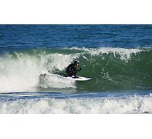 Winter Surfing at the Outer Banks in North Carolina. Photographic Print