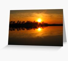 Mirror Sunset Greeting Card