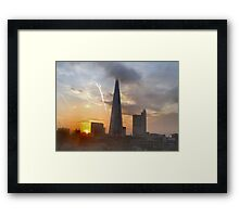 THE SHARD AT DAWN/COLLECTION I PAD/PHONE/ART/ETC Framed Print