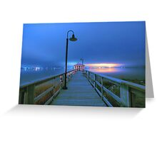 blue nights Greeting Card