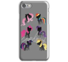 Monochrome Mane 6 Signed iPhone Case/Skin