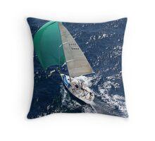 """Risk"" - Solitary Islands Race Throw Pillow"