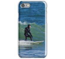 Surfing at Cape Hatteras North Carolina in the Winter iPhone Case/Skin