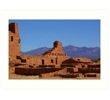 Salinas Mission Ruins - Abo Unit Art Print