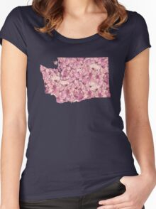 Washington Flowers Women's Fitted Scoop T-Shirt