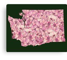 Washington Flowers Canvas Print