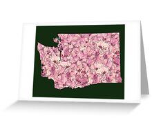 Washington Flowers Greeting Card