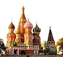 St Basil Cathedral, Moscow, isolated on white by MarcoSaracco