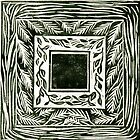 """Linocut """"Inchie"""" Border Print by Catherine  Howell"""