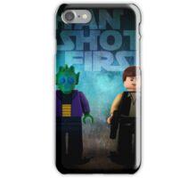 Han Shot First - Star wars lego digital art iPhone Case/Skin