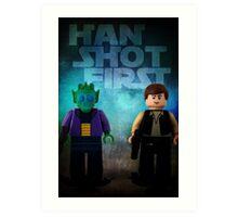 Han Shot First - Star wars lego digital art Art Print