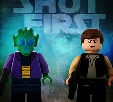 Han Shot First - Star wars lego digital art by CBDigitalGoods