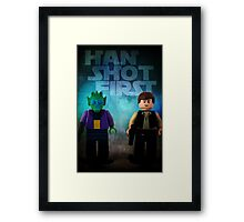 Han Shot First - Star wars lego digital art Framed Print