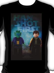 Han Shot First - Star wars lego digital art T-Shirt