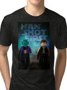 Han Shot First - Star wars lego digital art Tri-blend T-Shirt