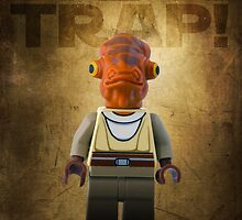 Admiral Akbar -  It's a Trap! - Star wars lego digital art.  by CBDigitalGoods